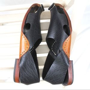 8feab31de025bc Our Tribe Shoes - Handmade Black Leather Closed Toe Sandals Dwarf 7